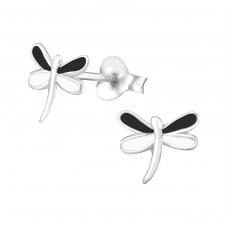 Dragonfly - 925 Sterling Silver Colorful ear studs for kids A4S986