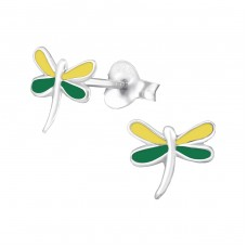Dragonfly - 925 Sterling Silver Colorful ear studs for kids A4S988