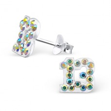 Thirteen - 925 Sterling Silver Crystal Ear Studs A4S14866