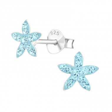 Star - 925 Sterling Silver Crystal Ear Studs A4S16331