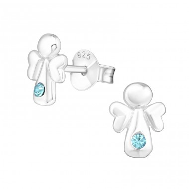 Angel - 925 Sterling Silver Crystal Ear Studs A4S21727