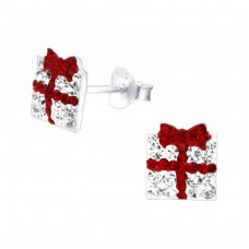 Gift Box - 925 Sterling Silver Crystal Ear Studs A4S24318
