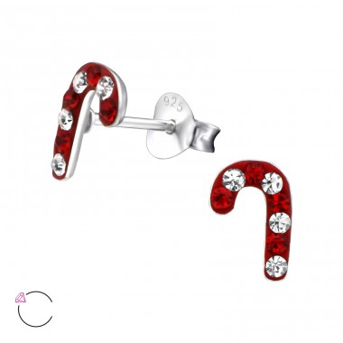 Candy Canes With Swarovski® Crystals - 925 Sterling Silver Swarovski For Kids A4S24712