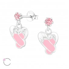 Ballet Shoes With Swarovski® Crystals - 925 Sterling Silver Swarovski For Kids A4S32854