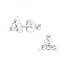 Triangle - 925 Sterling Silver Crystal Ear Studs A4S35430