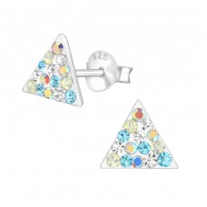 Triangle - 925 Sterling Silver Crystal Ear Studs A4S37033
