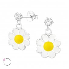 Hanging Flower - 925 Sterling Silver Swarovski for kids A4S37112