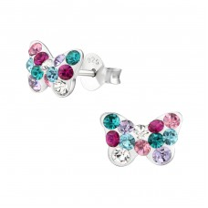 Butterfiy - 925 Sterling Silver Crystal Ear Studs A4S38013