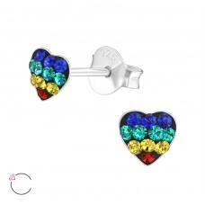 Heart - 925 Sterling Silver Swarovski for kids A4S38033