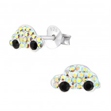 Car - 925 Sterling Silver Crystal Ear Studs A4S38294