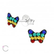 Butterfly - 925 Sterling Silver Crystal Ear Studs A4S38306