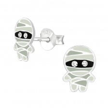 Mummy - 925 Sterling Silver Crystal Ear Studs A4S38677