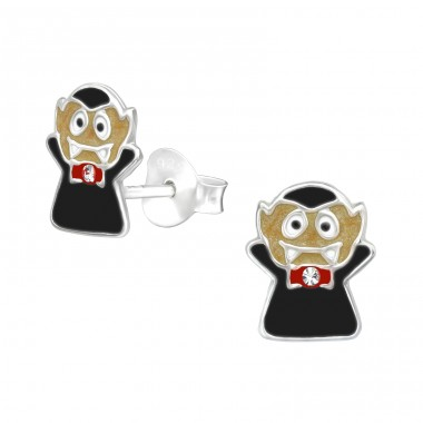 Vampire - 925 Sterling Silver Crystal Ear Studs A4S39993