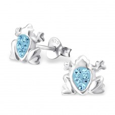 Frog - 925 Sterling Silver Crystal Ear Studs A4S5224