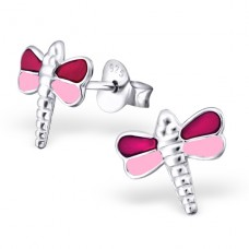 Dragonfly - 925 Sterling Silver Colorful ear studs for kids A4S21842