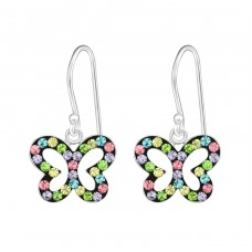 Butterfly - 925 Sterling Silver Earrings for Children A4S14737