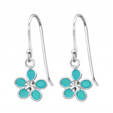 Flower - 925 Sterling Silver Earrings for Children A4S15133