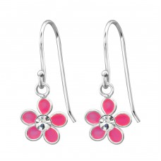 Flower - 925 Sterling Silver Earrings for Children A4S15135