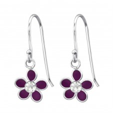 Flower - 925 Sterling Silver Earrings for Children A4S15136