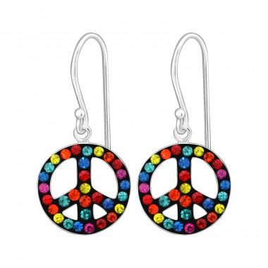 Peace - 925 Sterling Silver Earrings for Children A4S15272