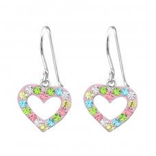 Heart - 925 Sterling Silver Earrings for Children A4S15273