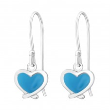 Heart - 925 Sterling Silver Earrings for Children A4S16664