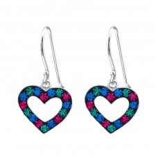 Heart - 925 Sterling Silver Earrings for Children A4S18314