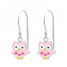 Owl - 925 Sterling Silver Earrings for Children A4S19242
