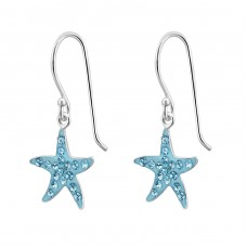 Starfish - 925 Sterling Silver Earrings for Children A4S21800