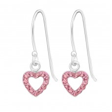 Heart - 925 Sterling Silver Earrings for Children A4S21801