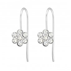 Flower - 925 Sterling Silver Earrings for Children A4S24471