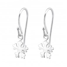 Snowflake - 925 Sterling Silver Earrings for Children A4S25152