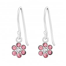 Flower - 925 Sterling Silver Earrings for Children A4S26803