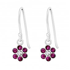 Flower - 925 Sterling Silver Earrings for Children A4S26805