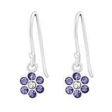 Flower - 925 Sterling Silver Earrings for Children A4S26806