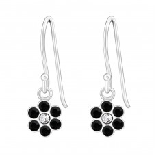 Flower - 925 Sterling Silver Earrings for Children A4S26807