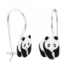Panda - 925 Sterling Silver Earrings for Children A4S28644