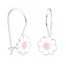 Flower - 925 Sterling Silver Earrings for Children A4S28649