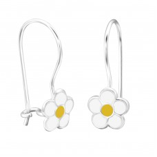 Flower - 925 Sterling Silver Earrings for Children A4S28650
