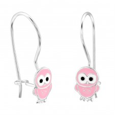 Owl - 925 Sterling Silver Earrings for Children A4S28652