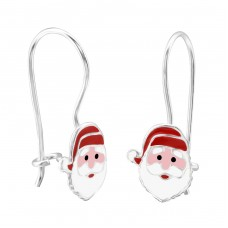 Santa Claus - 925 Sterling Silver Earrings for Children A4S28653