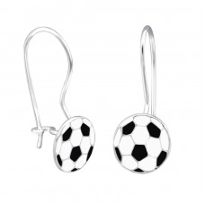 Football - 925 Sterling Silver Earrings for Children A4S28654
