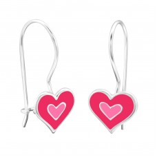 Heart - 925 Sterling Silver Earrings for Children A4S28655