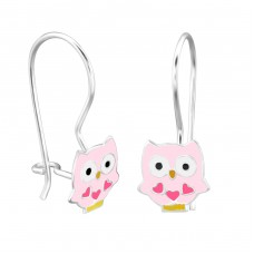 Owl - 925 Sterling Silver Earrings for Children A4S28656