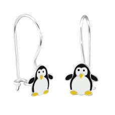 Penguin - 925 Sterling Silver Earrings for Children A4S28657