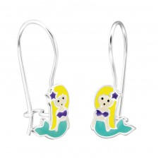 Mermaid - 925 Sterling Silver Earrings for Children A4S28658