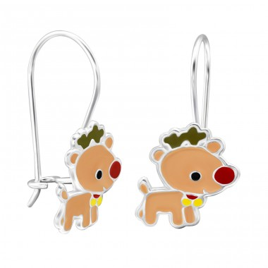 Reindeer - 925 Sterling Silver Earrings for Children A4S28659