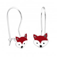 Fox - 925 Sterling Silver Earrings for Children A4S28660