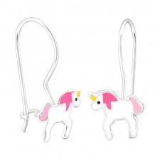 Unicorn - 925 Sterling Silver Earrings for Children A4S28663