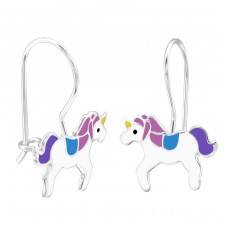 Unicorn - 925 Sterling Silver Earrings for Children A4S28664